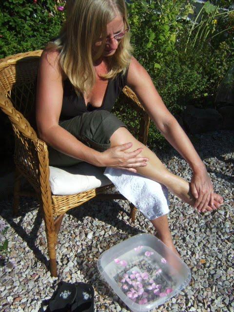 Aromatherapie für schwere Beine