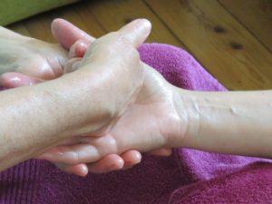 Streichung der Handinnenfläche