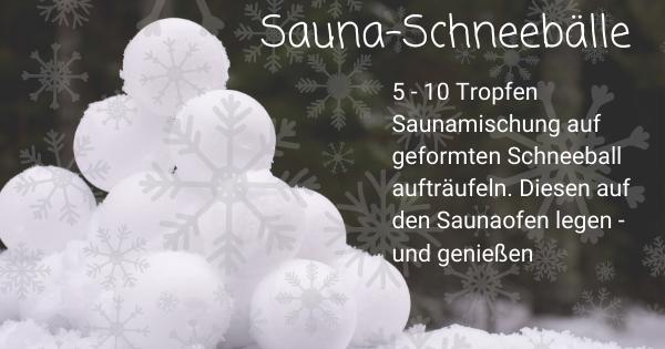 Winterzeit ist Saunazeit - dufte Entspannung!
