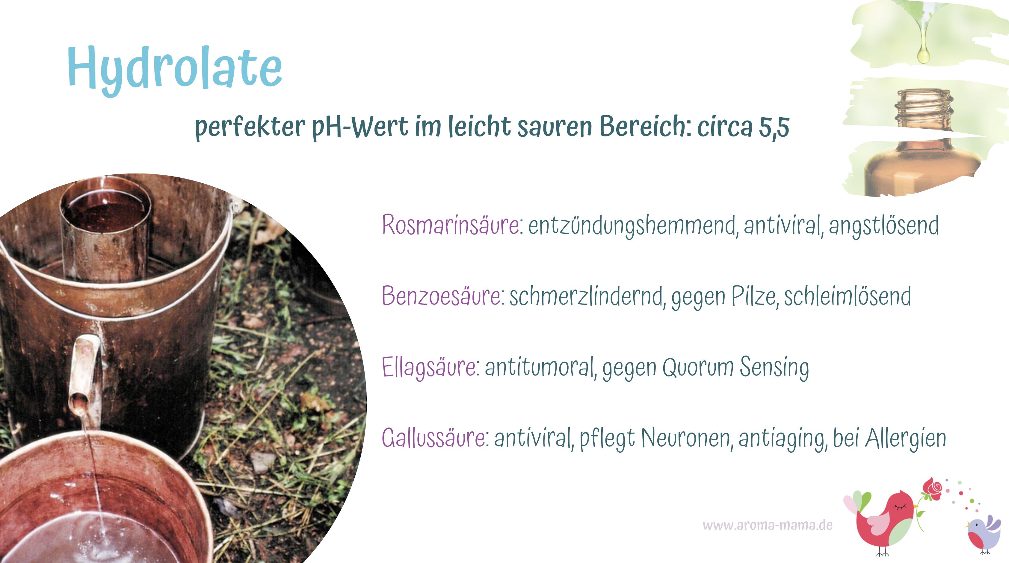 Hydrolate - perfekter pH-Wert für unsere Haut