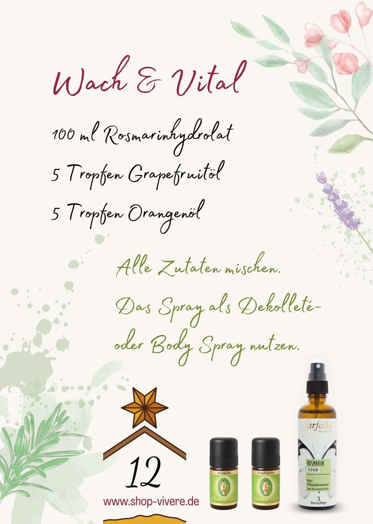 Adventskalender – Aromatherapie 12. Dezember