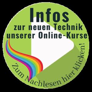 Infos zur neuen Technik unserer Online-Kurse